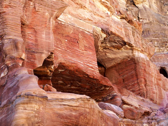 Textured Sandstone at Petra