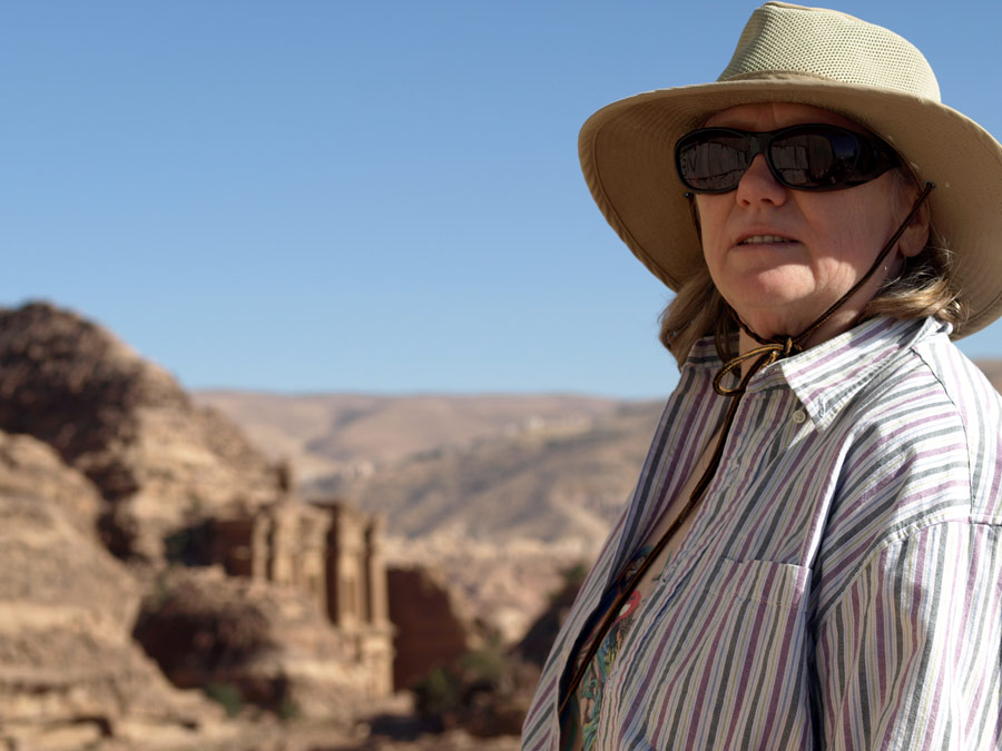 Aggie at Petra Monastery