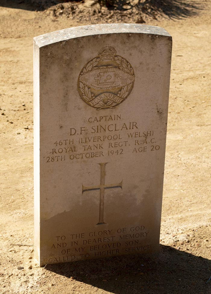 Captain Sinclair's Tombstone